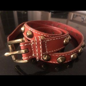 Accessories - Women's belt- leather sexy studded